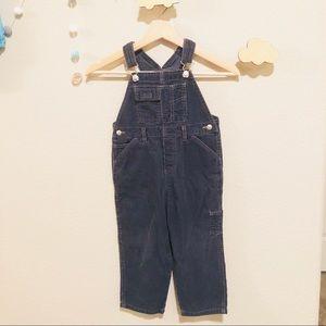 GAP kids gray corduroy overalls 3t